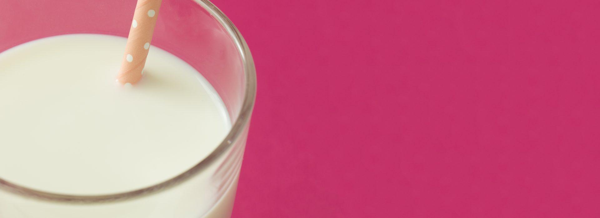Vaso de leche.