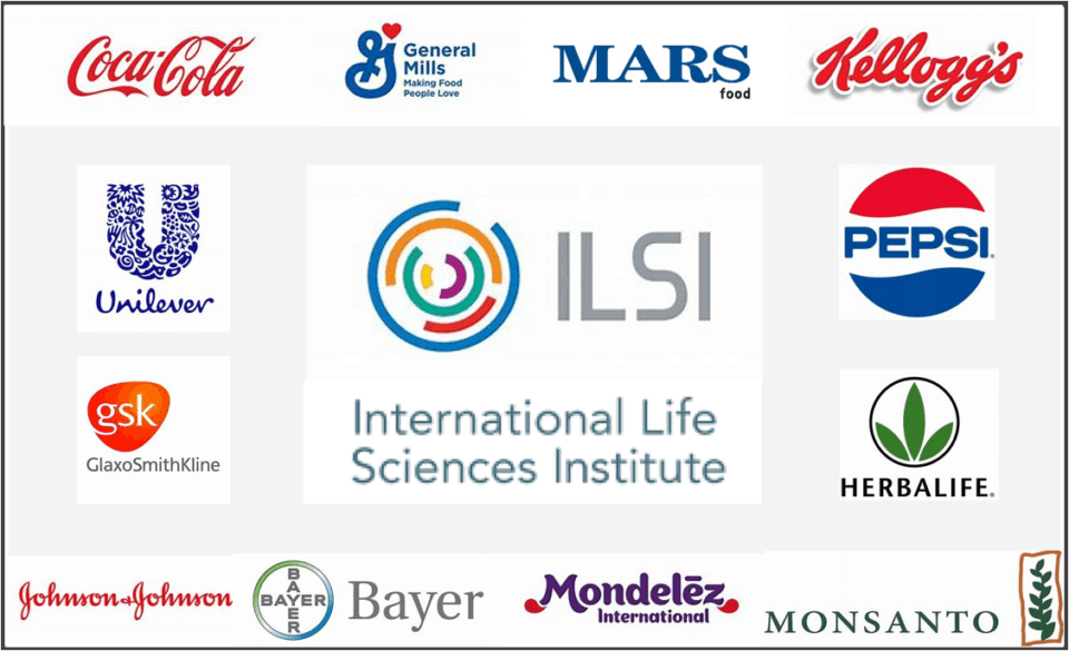 "Empresas que realizan ""donaciones"" al lobby llamado International Life Sciences Institute (ILSI)."
